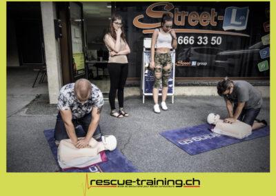 Rescue-training école de secourisme idem samaritains sauveteur permis de conduire entreprises BLS AED petite enfance Valais Lucien Cottier Street-L auto-école Riddes.007