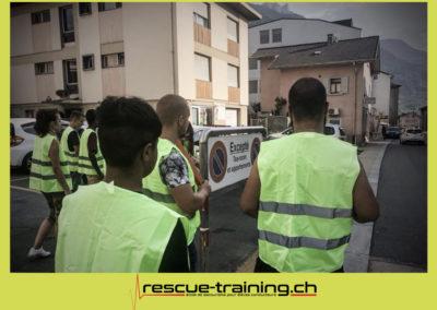 Rescue-training école de secourisme idem samaritains sauveteur permis de conduire entreprises BLS AED petite enfance Valais Lucien Cottier Street-L auto-école Riddes.018