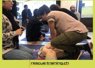 Rescue-training école de secourisme idem samaritains sauveteur permis de conduire entreprises BLS AED petite enfance Valais Lucien Cottier Street-L auto-école Riddes.028